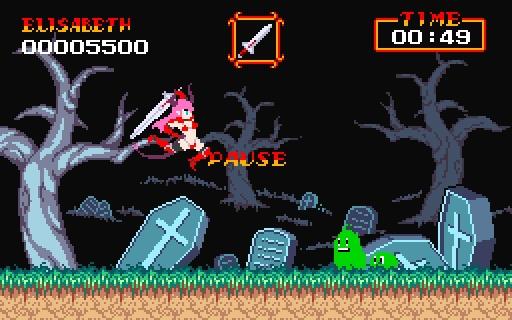 魔界村風アクションゲーム 「大魔かぼちゃ村」
