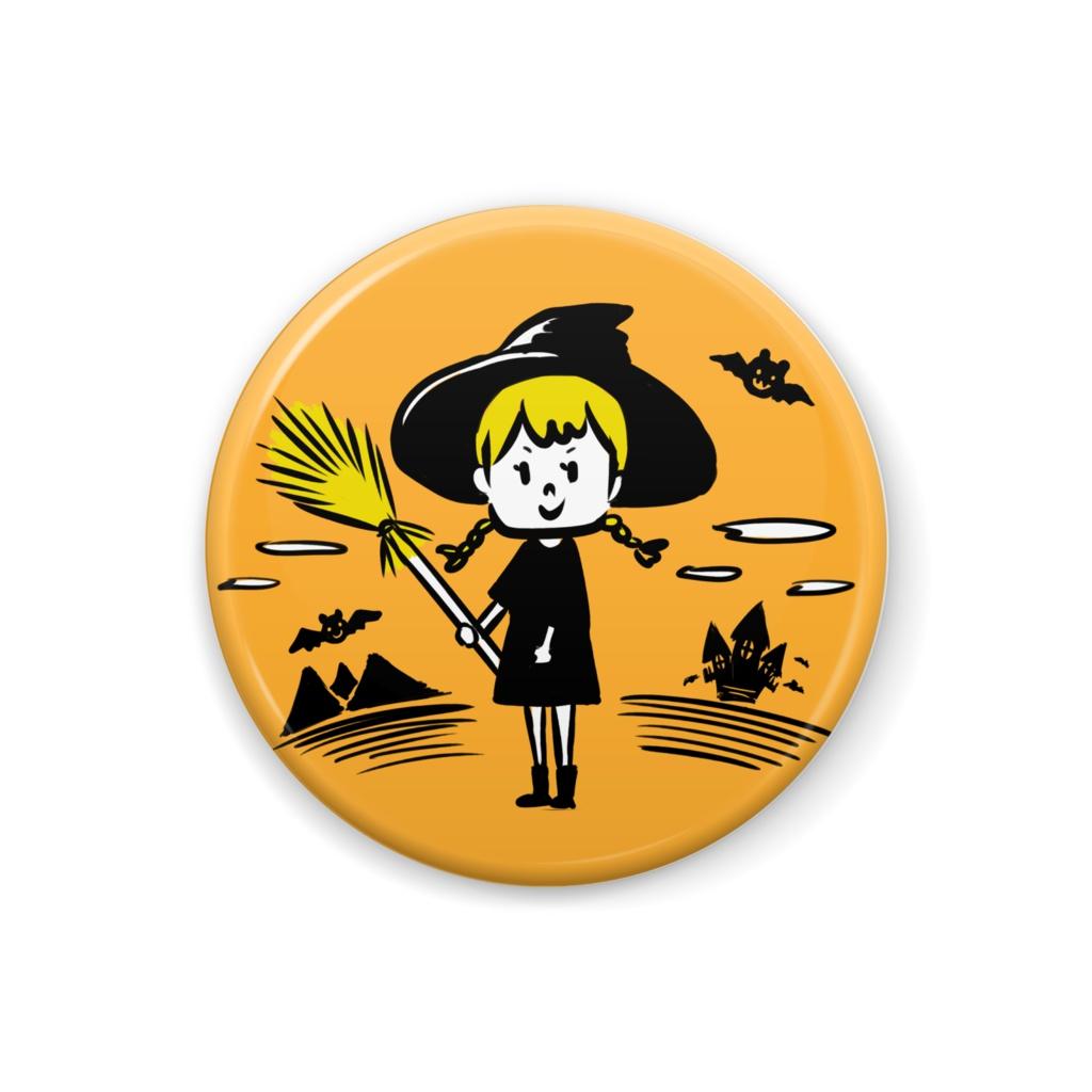 ハロウィンな魔女っ娘ちゃん缶バッジ