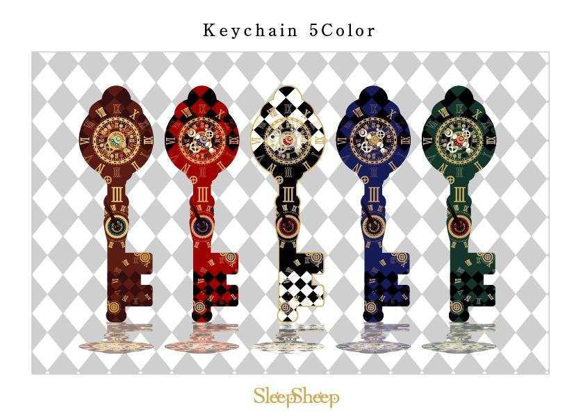 【Steam punk style】鍵型キーホルダー