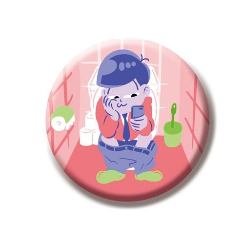 キラキラむつごとおトイレット缶バッチ トド松ver.