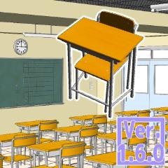 3D 学校教室 素材集(クリスタ1.6.0~・コミスタ用)背景