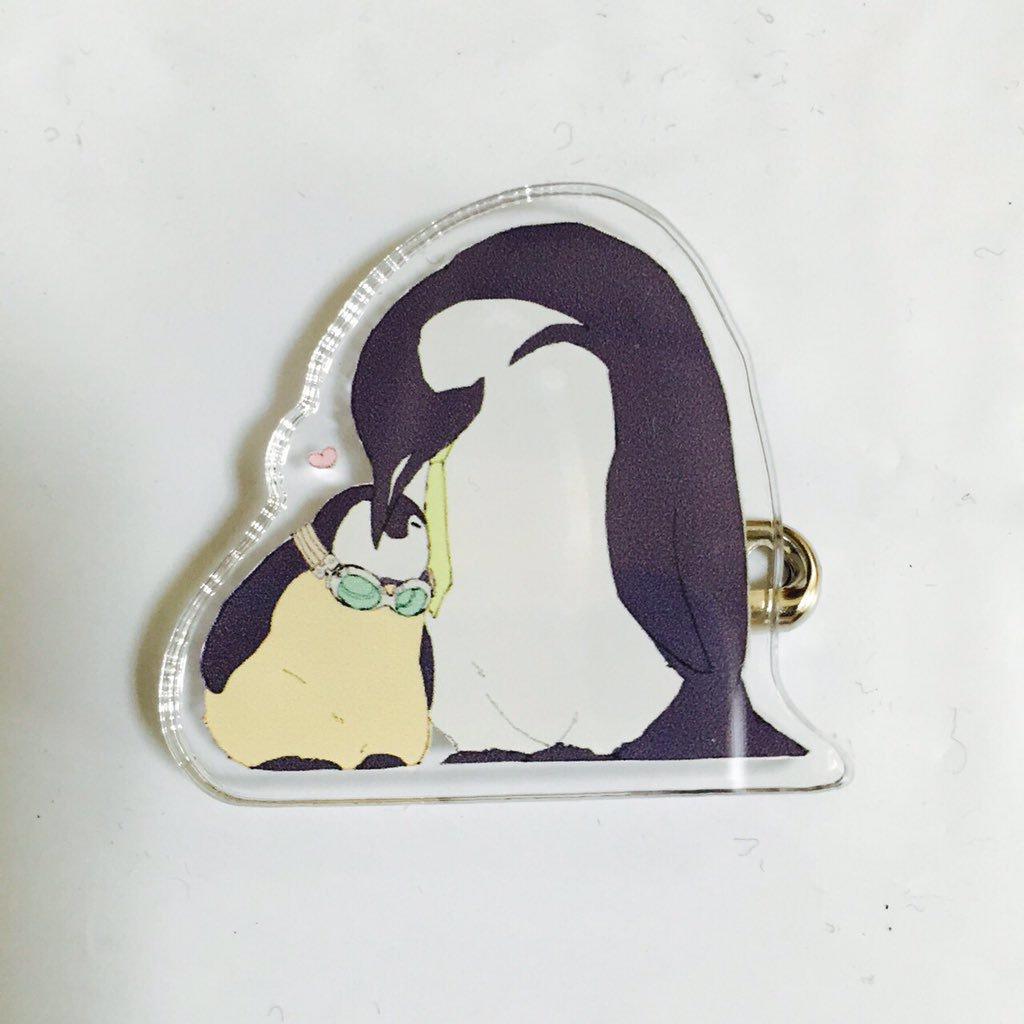 スティレオペンギンアクリルバッジ