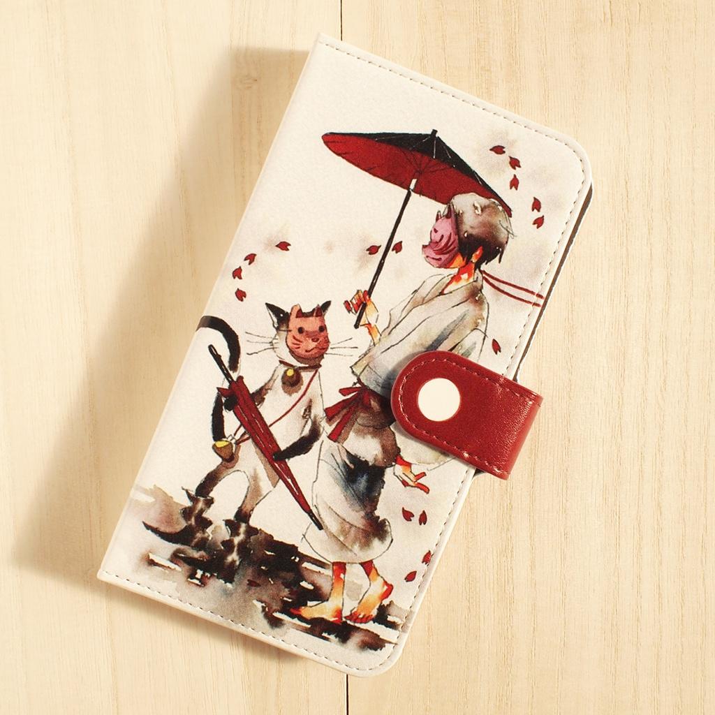 【iPhone6/6s】手帳型ケース/はなびら