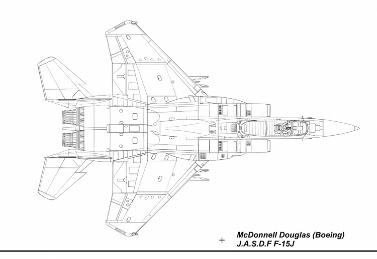 F-15J Blueprint Top