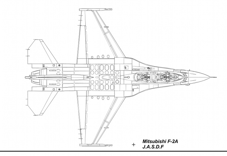 F-2B Blueprint Top