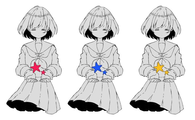 星のアクリルキーホルダー