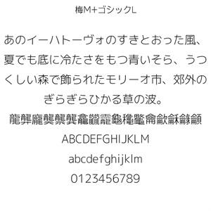 梅M+ゴシックL