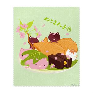 ねこまんまクリーニングクロス:桜と和菓子