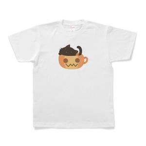 かっぷにゃんこ *ぽかぽかぼちゃ* 黒猫