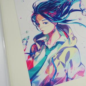 秋赤音ノベル表紙絵 複製画 (A2サイズ額装、数量限定)