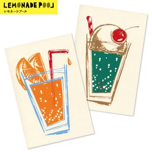 オレンジジュースとメロンクリームソーダ(ポストカード)