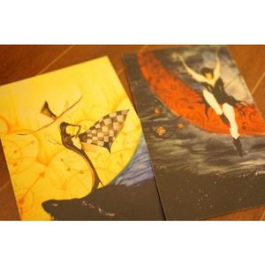 ◆オリジナルポストカード◆カバックとラ・ポーレ◆月と月◆