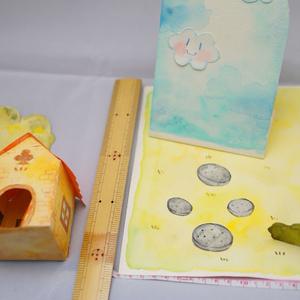 水彩手描き原画(立体)◆ミッチーのお家