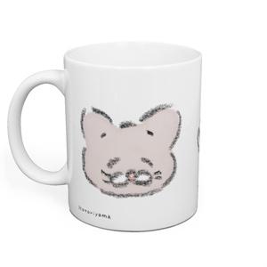 クロFaceマグカップ