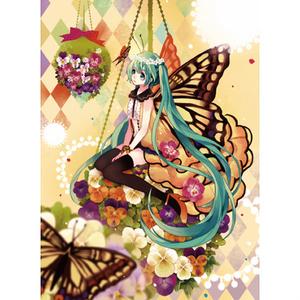 アゲハ蝶ミクポストカード