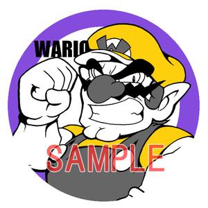 マリオ缶バッチ