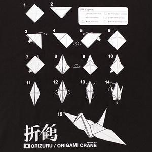 折鶴Tシャツ(ブラック)