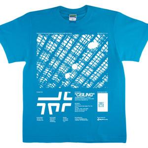 「天井」Tシャツ(ターコイズブルー)