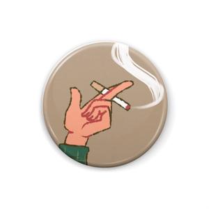 片手にタバコ