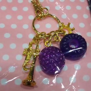レジンドロップバッグチャーム(紫)