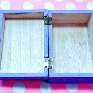 【手描き木箱】ノコギリシャギー