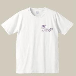 リリックマTシャツ(白シャツ+パステルパープル)