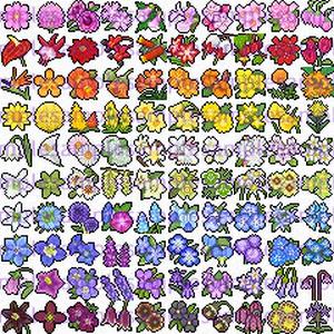 【ドット絵】花素材(24×24サイズ)
