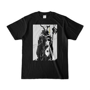 デザインTシャツ(bk) 牛骨