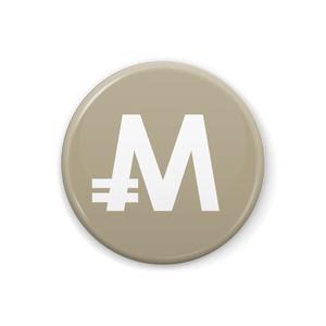 缶バッジ 32mm モナコイン メダル色
