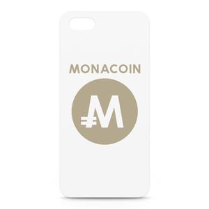 iPhone5/5sケース モナコイン 文字有 メダル色