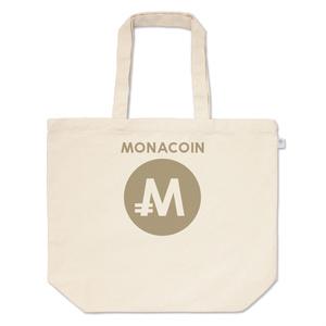トートバッグ L モナコイン 文字有 メダル色