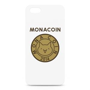 iPhone5/5sケース リアルモナコイン表柄 文字有 メダル色