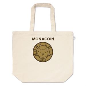 トートバッグ L リアルモナコイン表柄 文字有 メダル色