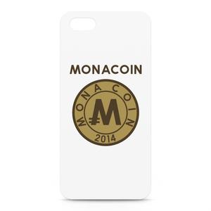 iPhone5/5sケース リアルモナコイン裏柄 文字有 メダル色