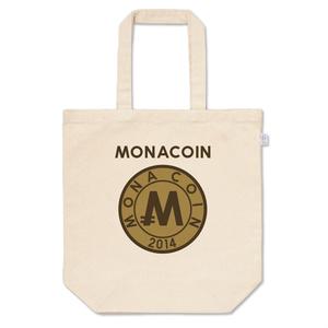 トートバッグ M リアルモナコイン裏柄 文字有 メダル色
