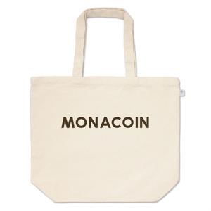トートバッグ L モナコイン 文字のみ メダル色