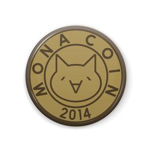 缶バッジ 44mm リアルモナコイン表柄 メダル色