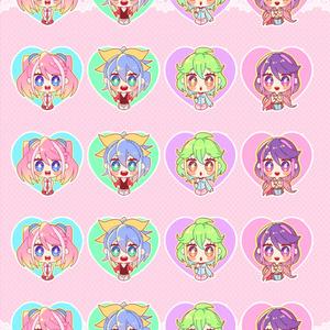 柚子シリーズ型抜きシール