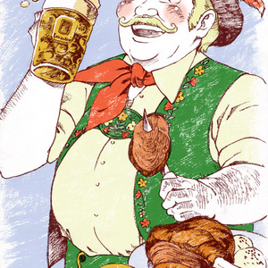 世界のおじちゃんポストカード ドイツ