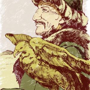 世界のおじちゃんポストカード カザフスタン