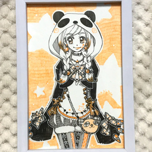 ☆【イラスト原画】オレンジ・パンダガール