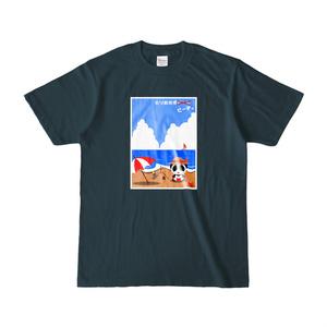 「とりあえずビーチ」Tシャツ(濃色)