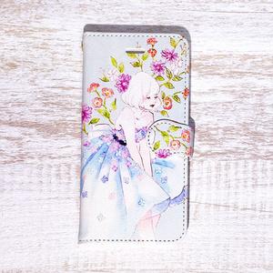 《受注生産》手帳型★iPhoneケース【Flower Balloon】