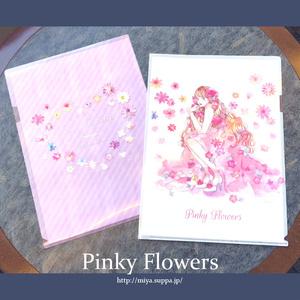 クリアファイル【Pinky Flowers】