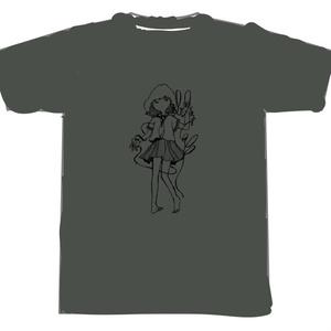 ZAN GIRL Tシャツ(チャコール)