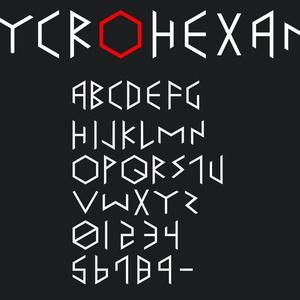 フォント『CYCROHEXANE』