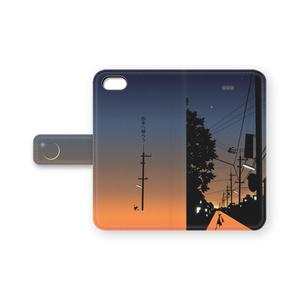 手帳型iPhoneケース(お家へ帰ろう)