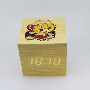 木目調アラーム時計 フランドール