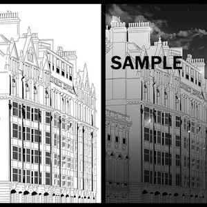 マンガ背景素材(イギリス ロンドン 高級住宅アパートメント)A-003