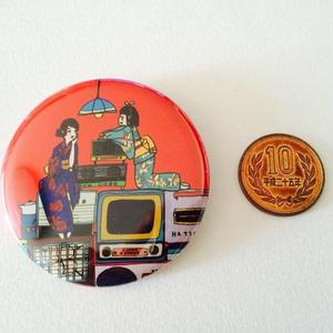 レトロ家電缶バッチ(57mm)